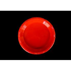 Plato Plástico Rojo paquete x10