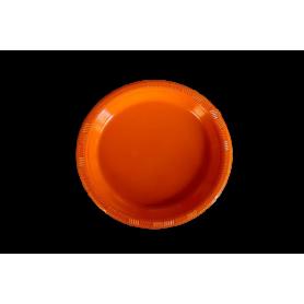 Plato Fondo Entero Naranja Paquete x10