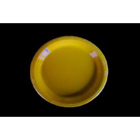 Plato Fondo Entero Amarillo Paquete x10