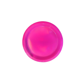 Plato Plástico Fucsia Paquete x10