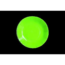 Plato Verde Neón Paquete x12 Dfiestas