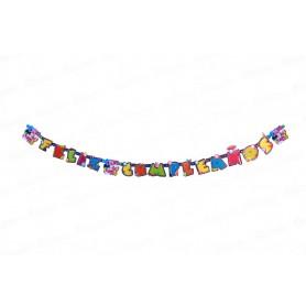 Letrero Feliz Cumpleaños Minnie Party