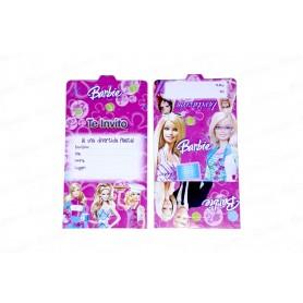 Tarjeta de invitación Barbie Paquete x12