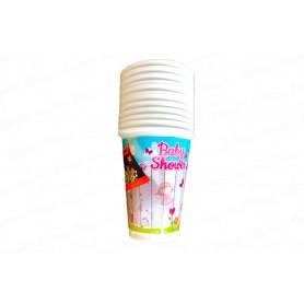 Vaso Baby Shower Niña Paquete x12