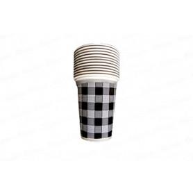Vaso negro Picnic Paquete x 12