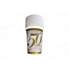 Vaso 50 Años CyM Paquete x 12