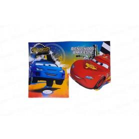 Invitación Sobre Sempertex Cars Paquete X8