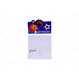 Invitación Sobre Deportes Paquete x6