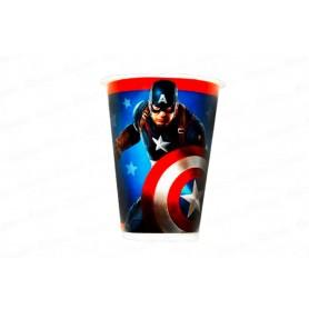 Vaso Capitán América Paquete x12 NK