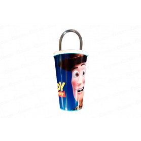 Vaso Pitillo de 13 cm Toy Story