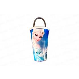 Vaso Pitillo de 13 cm Frozen