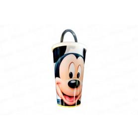 Vaso Pitillo de 13 cm Mickey