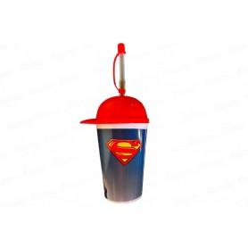 Vaso Pitillo Gorra Superman