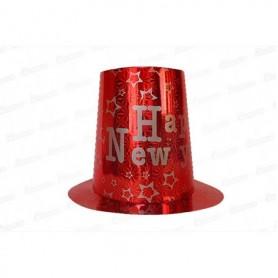 Sombrero Holográfico Happy New Year Largo