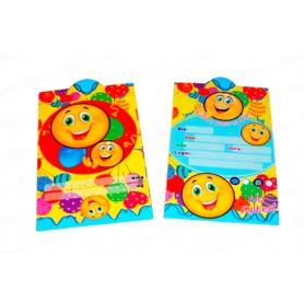 Tarjeta de Invitación Carita Feliz Paquete x12