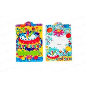 Tarjeta de Invitación Feliz Cumpleaños Paquete x12