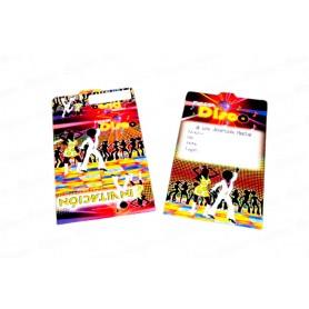 Tarjeta de Invitación Disco Paquete x12