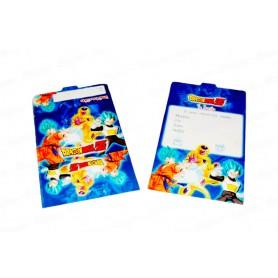Tarjeta de Invitación Dragon Ball Z Paquete x12