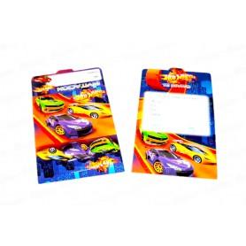 Tarjeta de Invitación Hot Wheels Paquete x12