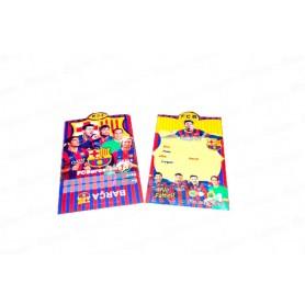 Tarjeta de Invitación Fútbol Club Barcelona Paquete x12