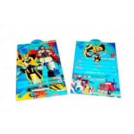 Tarjeta de Invitación Transformers Paquete x12