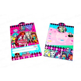 Tarjeta de Invitación Monster High Paquete x12