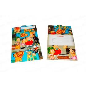 Tarjeta de invitación El Chavo Paquete x12