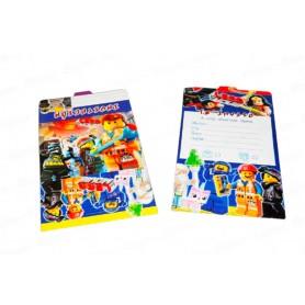 Tarjeta de Invitación The Lego Movie Paquete x12