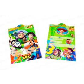 Tarjeta de Invitación Toy Story Paquete x12