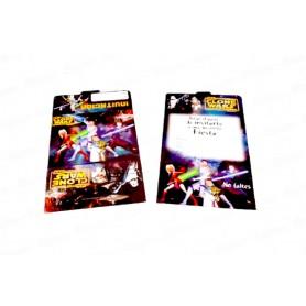 Tarjeta de Invitación Star Wars Paquete x12