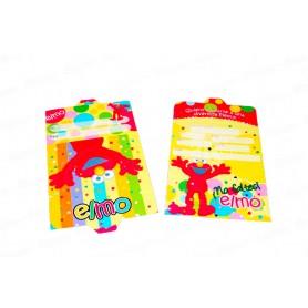 Tarjeta de Invitación Elmo Paquete x12