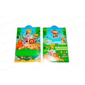 Tarjeta de Invitación Selva Paquete x12