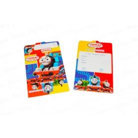 Tarjeta de Invitación Thomas Y Sus Amigos Paquete x12