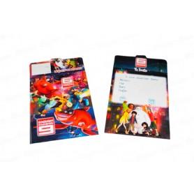 Tarjeta de Invitación  Grandes Héroes Paquete x12