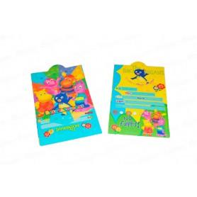 Tarjeta de Invitación Backyardigans  Paquete x12
