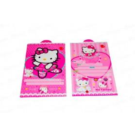 Tarjeta Fiesta Hello Kitty Paquete x12