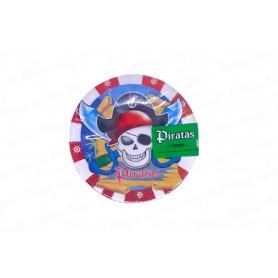 Plato Piratas redondo x12