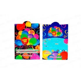 Tarjeta de Invitación Feliz Día Paquete x12