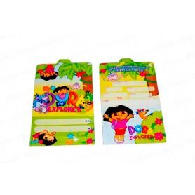 Tarjeta de Invitación Dora La Exploradora Paquete x12