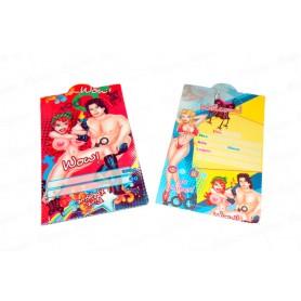 Tarjeta de Invitación Erótico Paquete x12