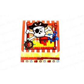 Tarjeta de Invitación Pirata Paquete x8