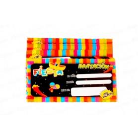 Tarjeta de Invitación Mexicana Paquete x12 Dfiestas