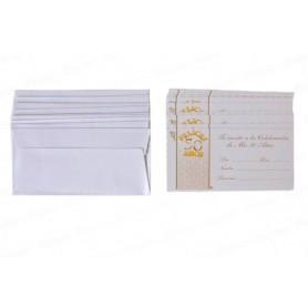 Tarjeta de Invitación 50 Años Paquete x12