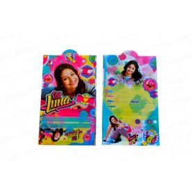 Tarjeta de Invitación Soy Luna Paquete x12