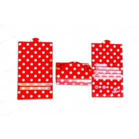Tarjeta Invitación Polka Roja Paquete x12