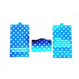 Tarjeta Invitación Polka Azul Paquete x12