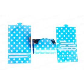 Tarjeta de Invitación Polka Azul Celeste Paquete x12