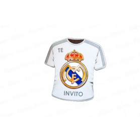 Tarjeta de Invitación Real Madrid  CyM Paquete x12