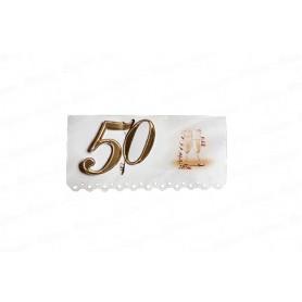Tarjeta de Invitación 50 Años  CyM Paquete x12