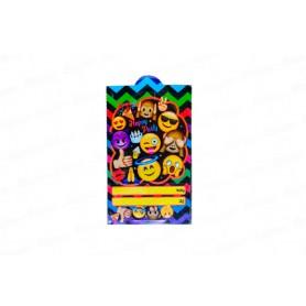 Tarjeta de Invitación Emoticones Paquete x12